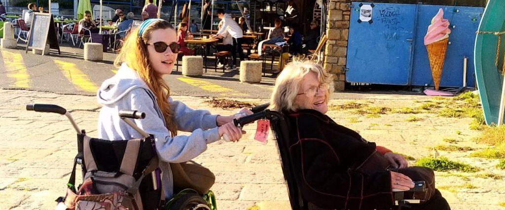 Le handicap n'empêche pas les excursions dans la famille de Marie-Françoise Lipp.